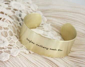 Name Bracelet · Cuff Bracelet · Brass Cuff Bracelet · Custom Name Bracelet · Personalized Jewelry · Gift for Mom · Gift for Her