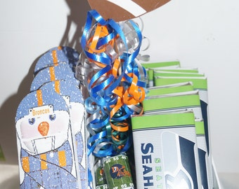 Football Candy Bar Wrappers, Football personalized candy bar wrappers, Super Bowl party favors,  Set of 20.