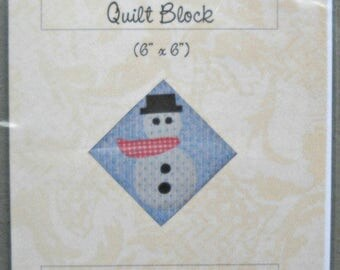 Frosty the Quilt Block Pattern