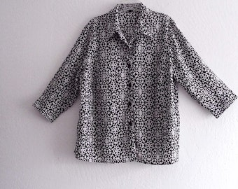 Sale Black and white printed Blouse