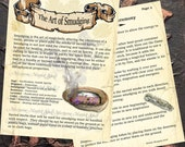 THE ART of SMUDGING, Digital Download, Book of Shadows Grimoire, Scrapbook,  Wicca, Pagan, Witchcraft, White Magick, Magick Spell