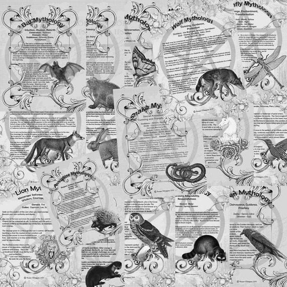 ANIMAL MYTHOLOGY, 18 PAGES  Complete Set