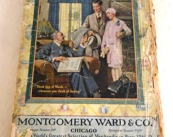Vintage 1920s Montgomery Ward Catalog Complete Spring and Summer 1929 Flapper Fashions Galore!