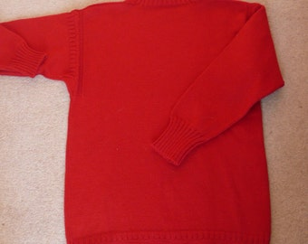 Immaculate red wool Guernsey traditional sweater