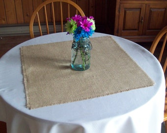Set of 10 Wedding Burlap Table Squares, Rustic Table Squares, Burlap Table Toppers, Rustic Wedding Decorations, Fall Wedding Table Decor