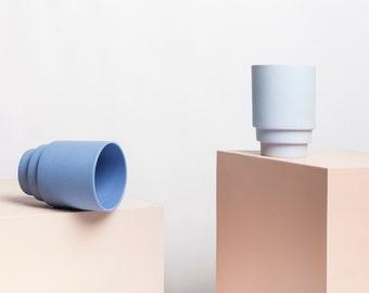 Ceramic Mug Set of 2 MONDAY Cups cobalt blue or misty light blue Porcelain Mug Coffee mug Coffee cup Tea cup Tea mug
