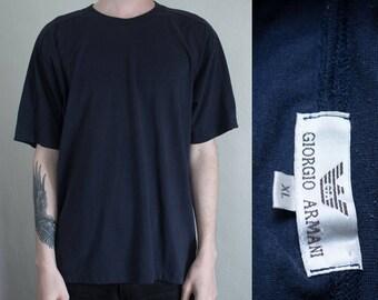 blue Giorgio Armani tshirt - XL