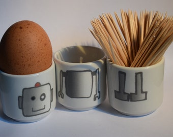 Robot stacking egg cups (New-Dark square/ Light square)