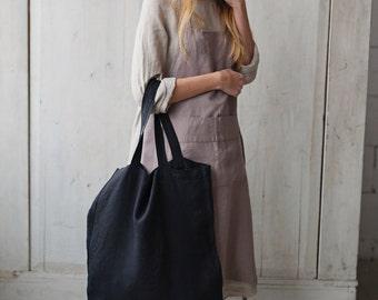 Linen Tote Bag, Shoulder Bag, Handmade Bag, Casual Bag, Shopping Bag, Reusable Bag, Grocery Bag, Tote Bag, Big Bag, Large Bag, Travel Bag