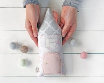 Tooth Fairy, Tooth Fairy Pillow, Tooth Fairy House, Modern Kids Gift, Stuffed Toy, Decorative Pillow, Children's Pillow, Gift for Kids, Pink