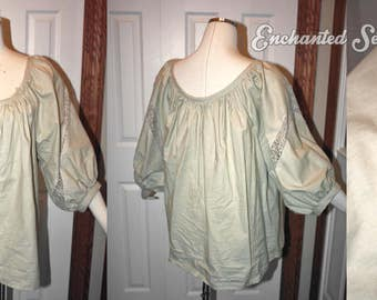 "SALE: Plus Size Peasant Blouse (Matches Ruby's from ""Once Upon a Time"")"