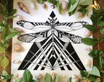 Dragonfly Magick, Art Print