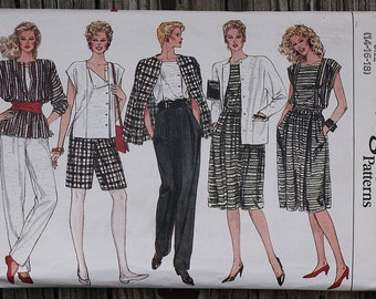 Vogue 8617 1980s 80s  Jacket Skirt Pants Shorts Top Vintage Sewing Pattern  Size 14-16-18 Bust 36-38-40