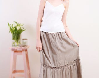 Linen White Top/ Linen White Cami/Linen Underwear/ Flax Top/ Linen Lingerie