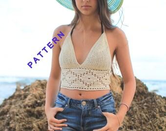 Lacy Crochet Top Pattern, Crochet Top PDF, Crochet Tutorials
