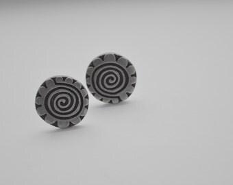 Rune Tennesmed Swedish pewter Vintage Cufflinks Modernist hallmarked