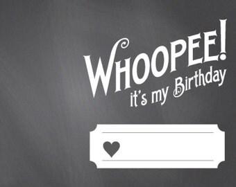 Editable Birthday Whoopie Cushion Card Template - Printable PDF Whoopee Cushion Birthday Party Favor