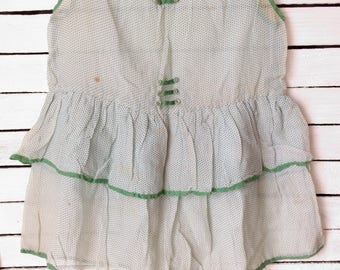 vintage 1930/40's girls silk dress
