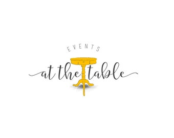 Hand Drawn Table Premade Logo