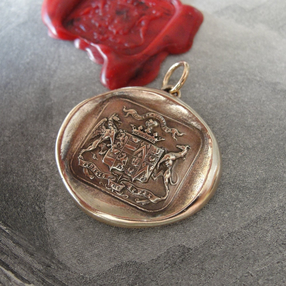 wax seal pendant griffin and greyhound antique wax seal