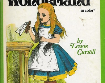 ALICE IN WONDERLAND, Original Illustrated Alice In Wonderland In Color, Castle Books, 1978 Oversized Vintage Hardcover Book, John Tenniel