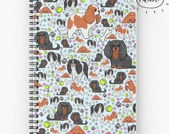 Cavalier King Charles Spaniel Notebook, Cute Dog Journal, Cute Journal, Pet Spaniel Gifts, King Charles Spaniel Gifts, For Spaniel Owners