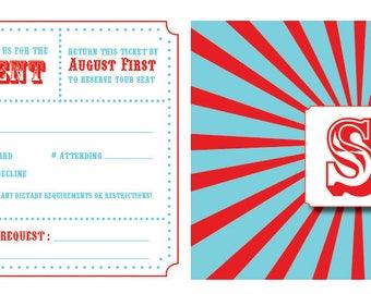 Wedding Reception RSVP Card