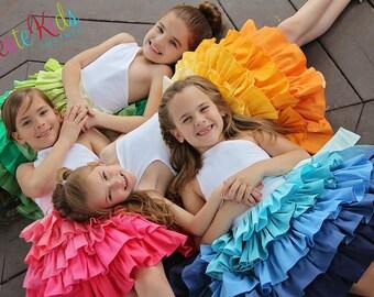 Francesca's Frilly Ruffle Dress PDF Pattern Sizes 6/12m to girls 8
