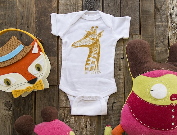 Giraffe 3 - graphic printed on Infant Baby One-piece, Infant Tee, Toddler T-Shirts - Many sizes