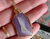 RESERVED FOR LOU. Holly Blue Agate Pendant. Holly Blue Agate cab Wire Wrapped in 14kt yellow gold. Holly blue agate cabochon.