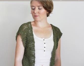 Crochet Pattern: The Joshua Tree Shrug 2 Adult Sizes Small/Medium, Large/Extra Large summer festival sweater