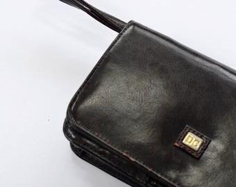 D.C. brown small vintage leather dark brown bag