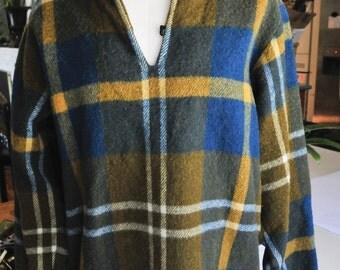 Vintage Wool Plaid Pullover