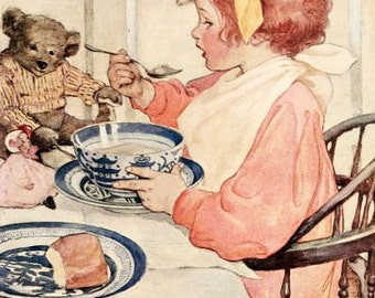 Fine Art Print by Jessie Willcox Smith from the Book The Seven Ages of Childhood 1909