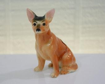 Vintage Chihuahua Figurine Bone China Porcelain