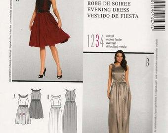 Burda 7475 Sleeveless dress round shaped yoke fitted bodice waist gathered skirt in two lengths Size 6-8-10-12-14-16-18 uncut sewing pattern