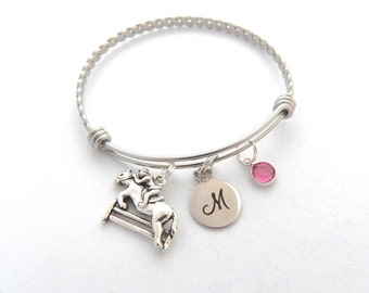 Horse Bracelet, Equestrian Jewelry, Horse Jewelry, Equine Equestrian, riding jewelry, Cute Dainty Bracelet, Personalized Gift for Niece