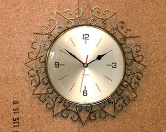 Westclox Starburst Wall Clock - Sunburst Clock - Recycled Wall Clock with New Battery Movement