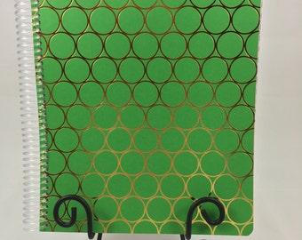 Bullet Journal, Planner - Green and Gold Bullet Journal, Planner, Notebook