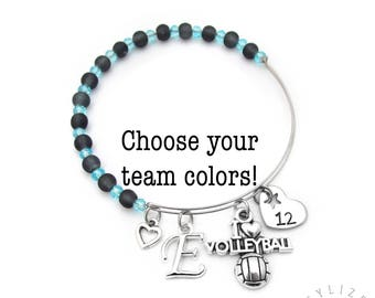 Volleyball Bracelet, Volleyball Gifts, Volleyball Gifts for Girls, Girls Volleyball Gifts, Volleyball Team Gift, Volleyball Jewelry