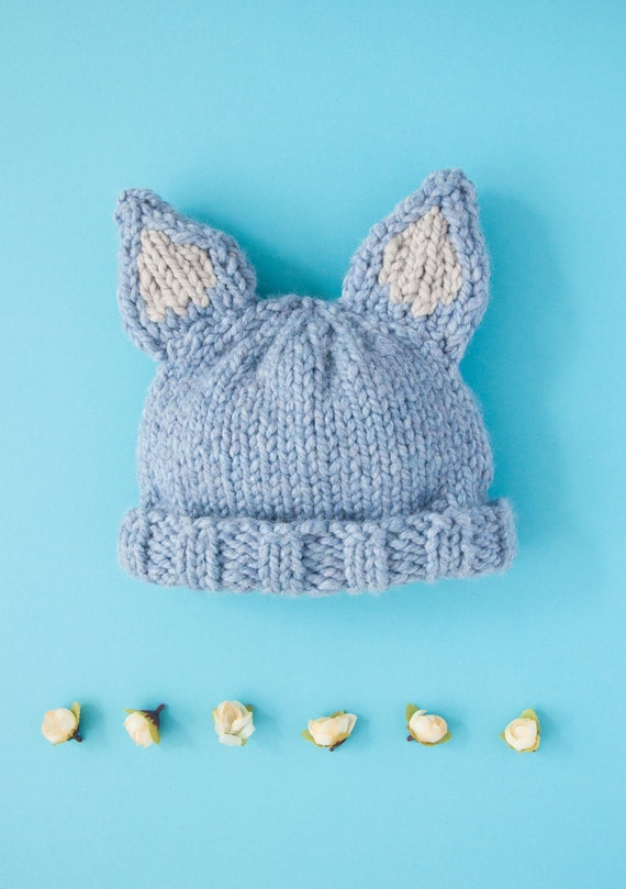Knitting Kits For Beginners Uk : Knitting kit beginners super chunky moon wolf hat pattern and