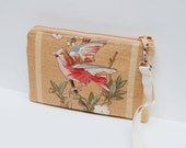 "Floral wristlet clutch | 9""x6"" 