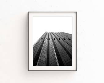 THE LADDER | Modern office decor | black and white architecture photo print | geometric building wall art | fine art photography | city art