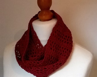 Made To Order - Crochet Bamboo Infinity Scarf - Choice of Colours