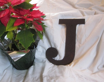 "Ready To Ship!  Metal letter ""J"""