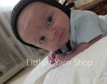 Bonnet, Baby Bonnet and leggings, Baby Hat, Brown Hat, Baby Leggings, Leggings, Brown Leggings, Photography Prop