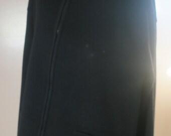 Sweater ..Tally Ho 3X Black Wool Zip up Black Jacket /sweater