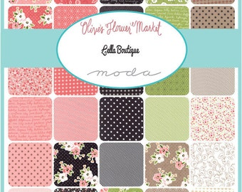 Olive's Flower Market Charm Pack by Lella Boutique for Moda - One Charm Pack - 5030PP