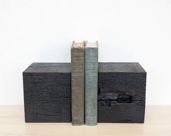 Oak Book Ends- Charred White Oak