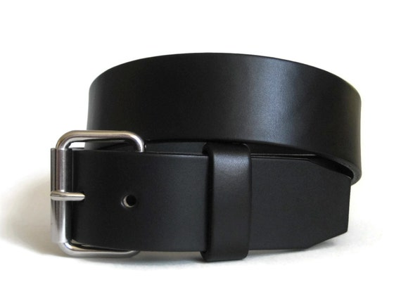 leather belt mens black leather belt thick by angelleathershop